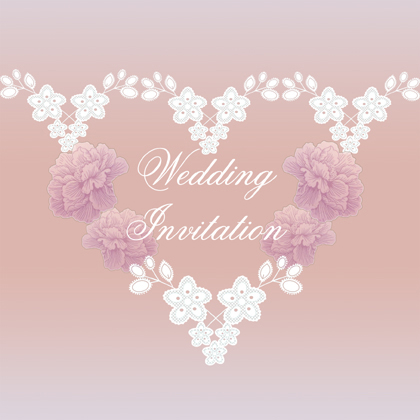 lavender lace wedding invitation