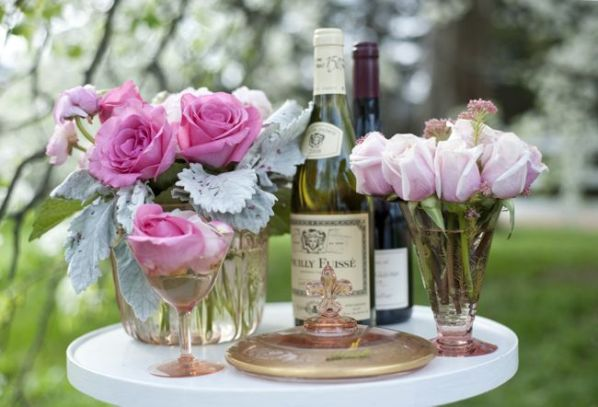 pink chic wedding flowers