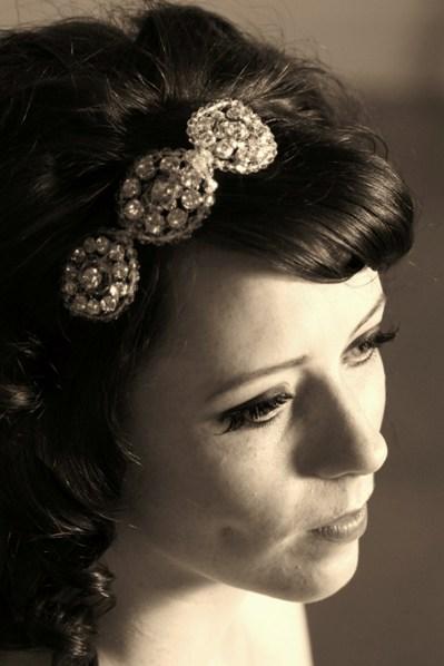retro bridal headpiece