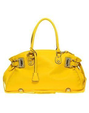 yellow capacity handbag
