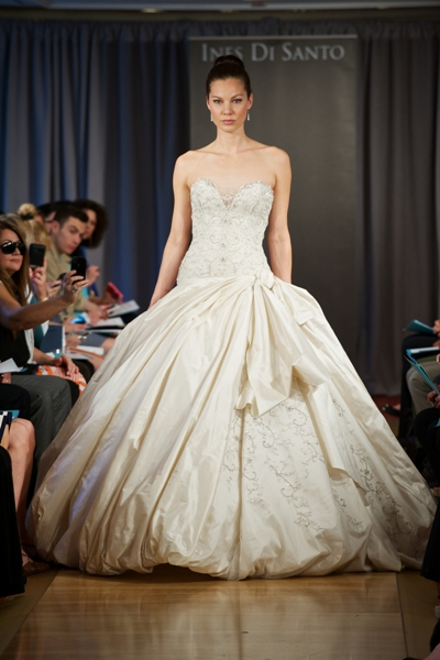 puff ball bridal gown