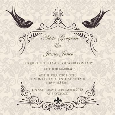 Ananya Cards Presents French Fantasy Wedding Invites