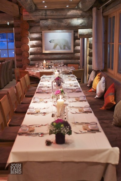 chalet wedding reception