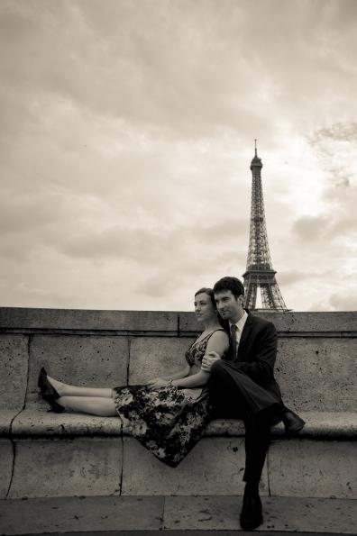 Parisian engagement shoot