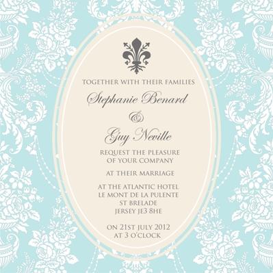 french fantasy wedding invites