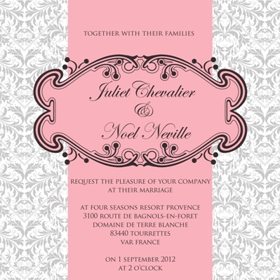 Ananya Cards Presents French Fantasy Wedding Invites