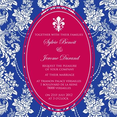 french wedding invites