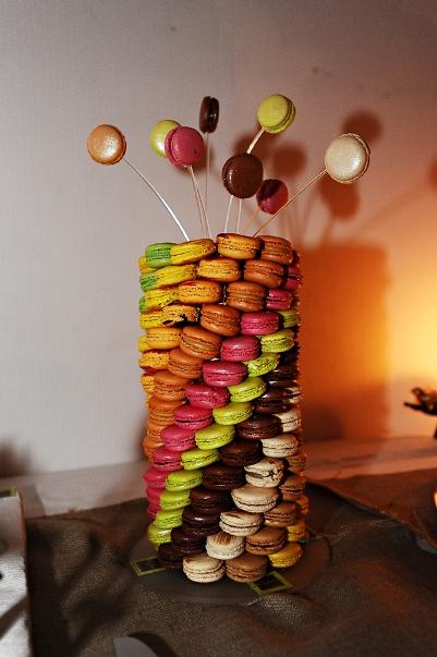 funky macaron tower