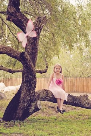 girl pink vintage dress