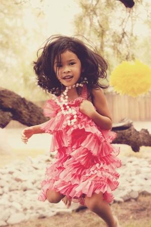 pink girls flapper dress