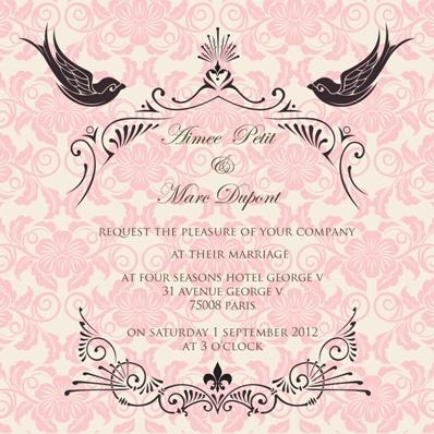 wedding france invite