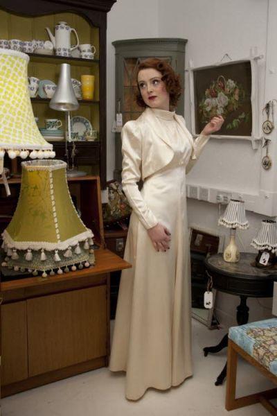 1930s vintage wedding dress