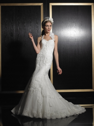 chic bridal gown
