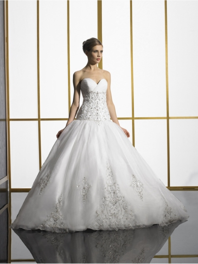 jewelled chic wedding dress