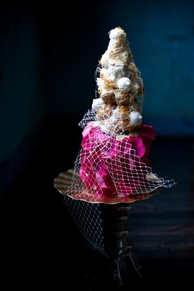 mini croquembouche wedding cake