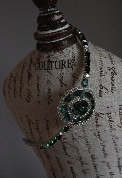 original vintage emerald headband