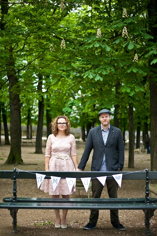 amour wedding bunting