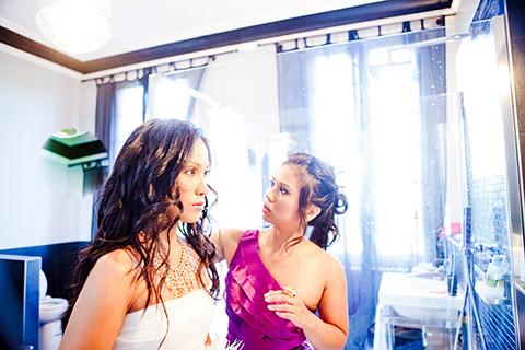 bridal hair bordeaux
