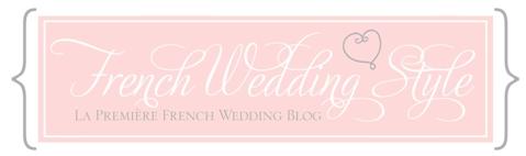 french wedding style logo