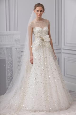 Gold sparkle wedding dress