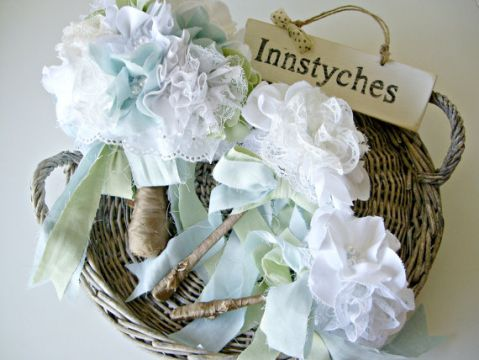 shabby chic fabric bouquets