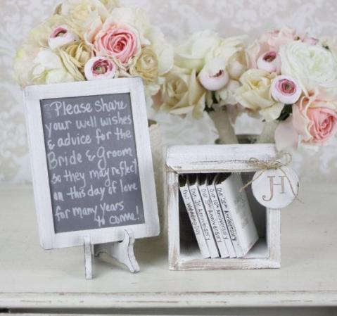 shabby chic guest book alternative