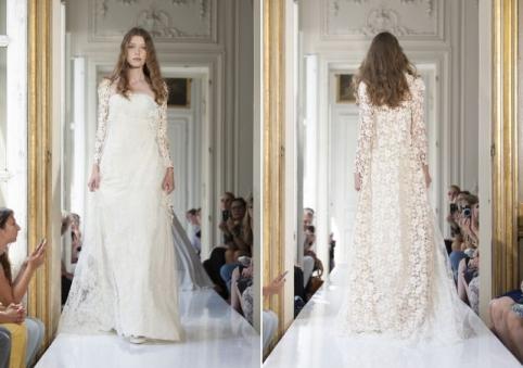 french lace bridalwear