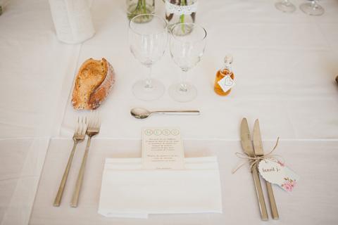 french wedding place setting