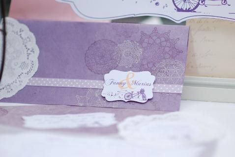 lavender wedding invite