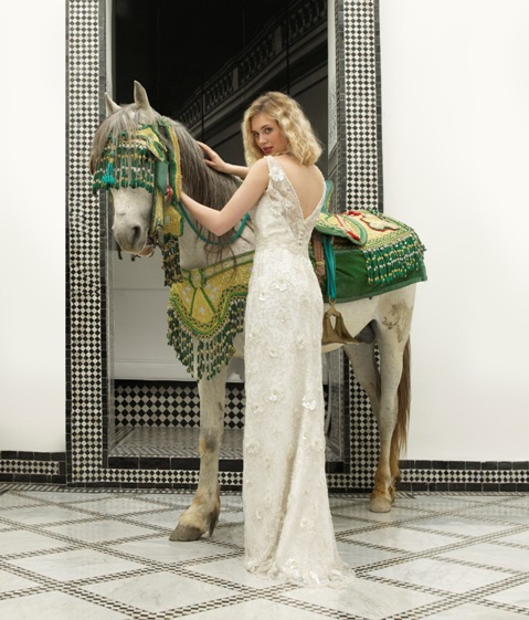 shabby chic lace wedding dress