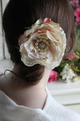 shabby chic bridal hair slide