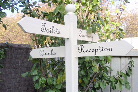 shabby chic crossroads sign