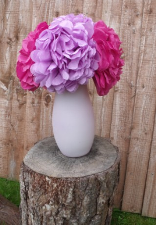 shabby chic paper wedding flowers