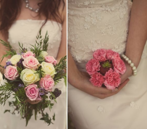 shabby chic wedding flowers © - Christy Blanch Photography / French Wedding Style Blog