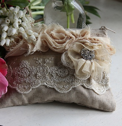 shabby chic wedding purse