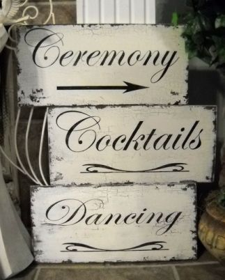 shabby chic wedding signs