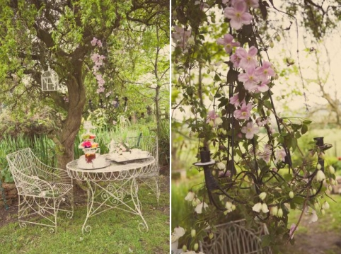 vintage wedding with flowers © - Christy Blanch Photography / French Wedding Style Blog