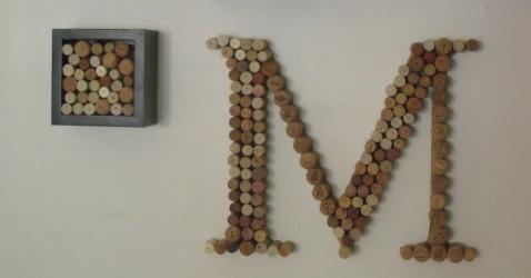 wine monogram letter