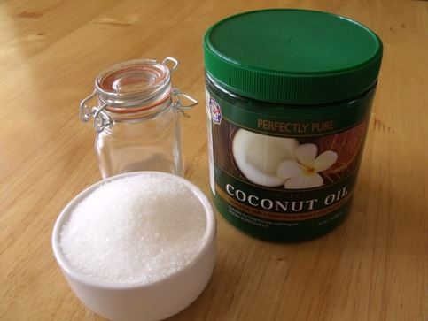 coconut sugar body scrub