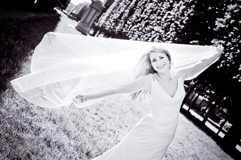 dramatic bridal photography