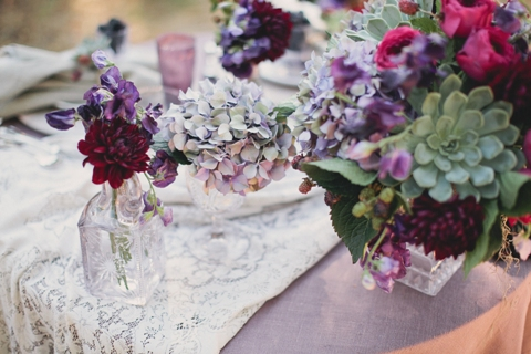 french country wedding flowers