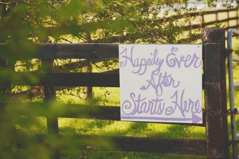 happy ever after starts here sign