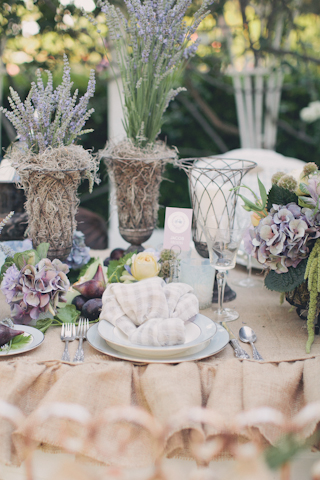 natural themed wedding table