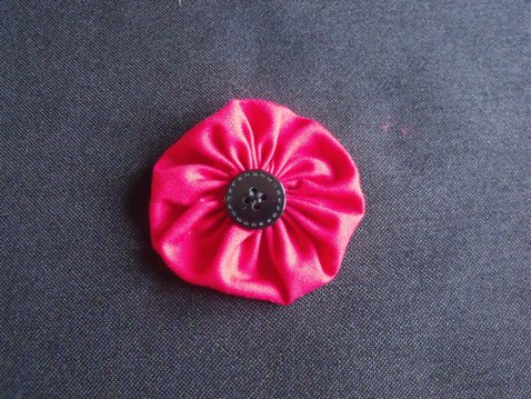 red fabric poppy