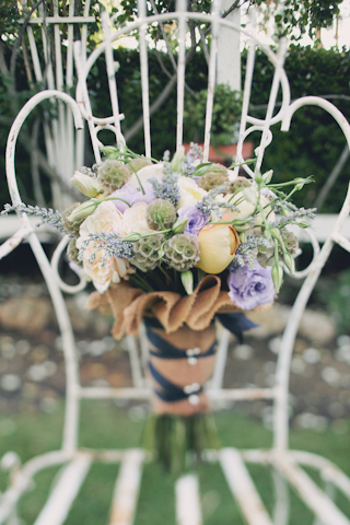 rustic french wedding bouquet