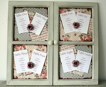 shabby chic tableplan