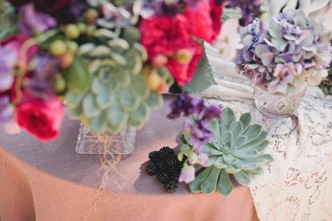 succulent fruit wedding flowers