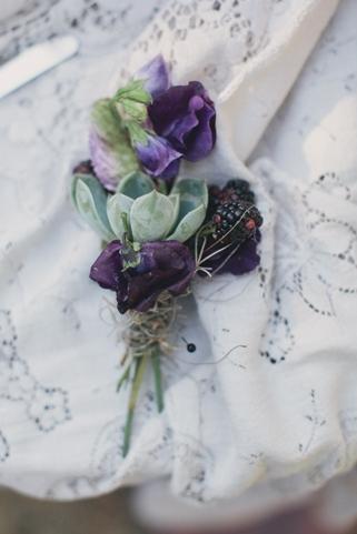 succulent wedding buttonhole