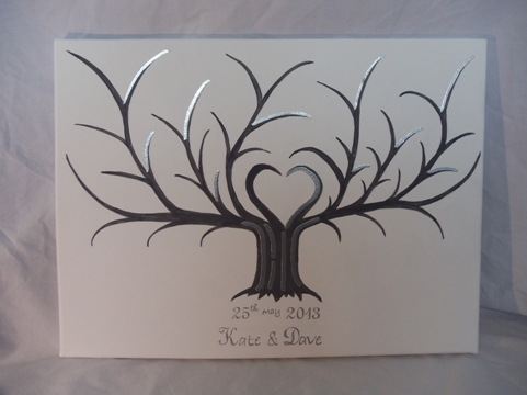 wedding fingerprint tree for a guest book
