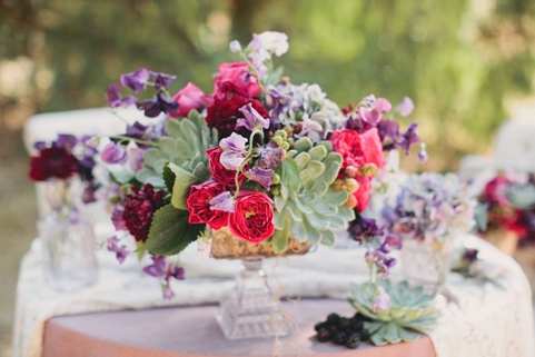 wedding flowers with succulents